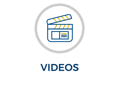 3 color graphic icon to link to EEI's videos page