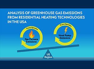 Analysis of Greenhouse Gas Emissions from Residential Heating Technologies in the USA